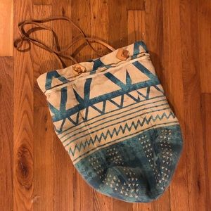Free People canvas tote